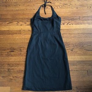Banana Republic Black Halter Dress Backless
